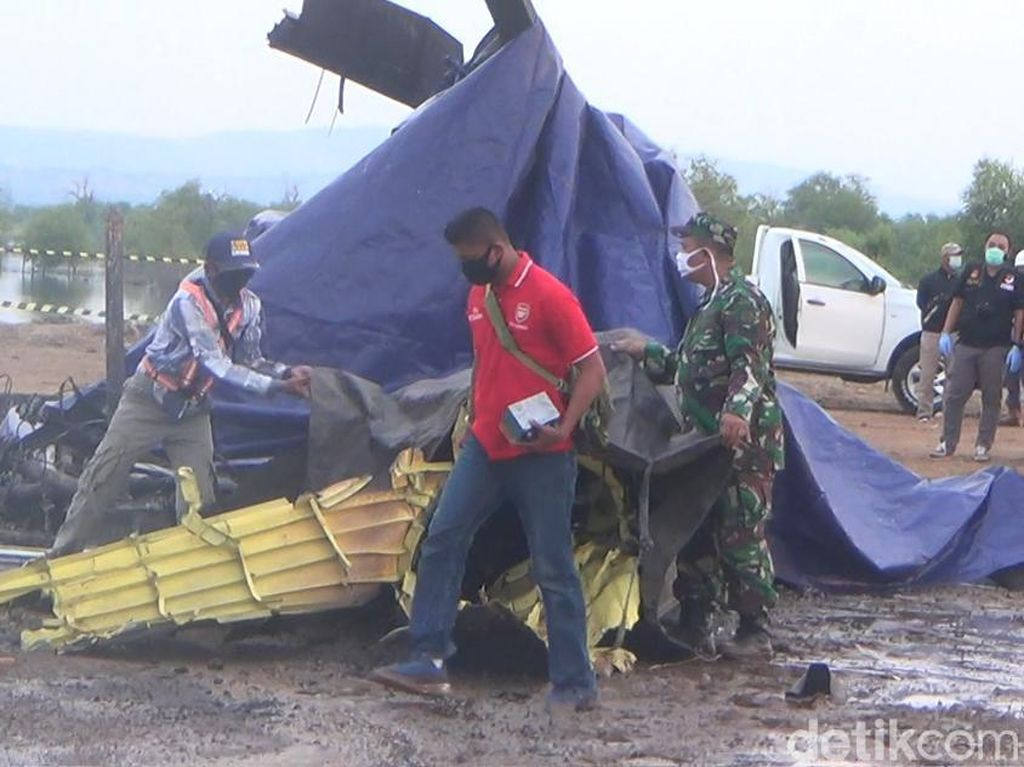 Black Box Helikopter Jatuh di Kendal Sudah Diamankan