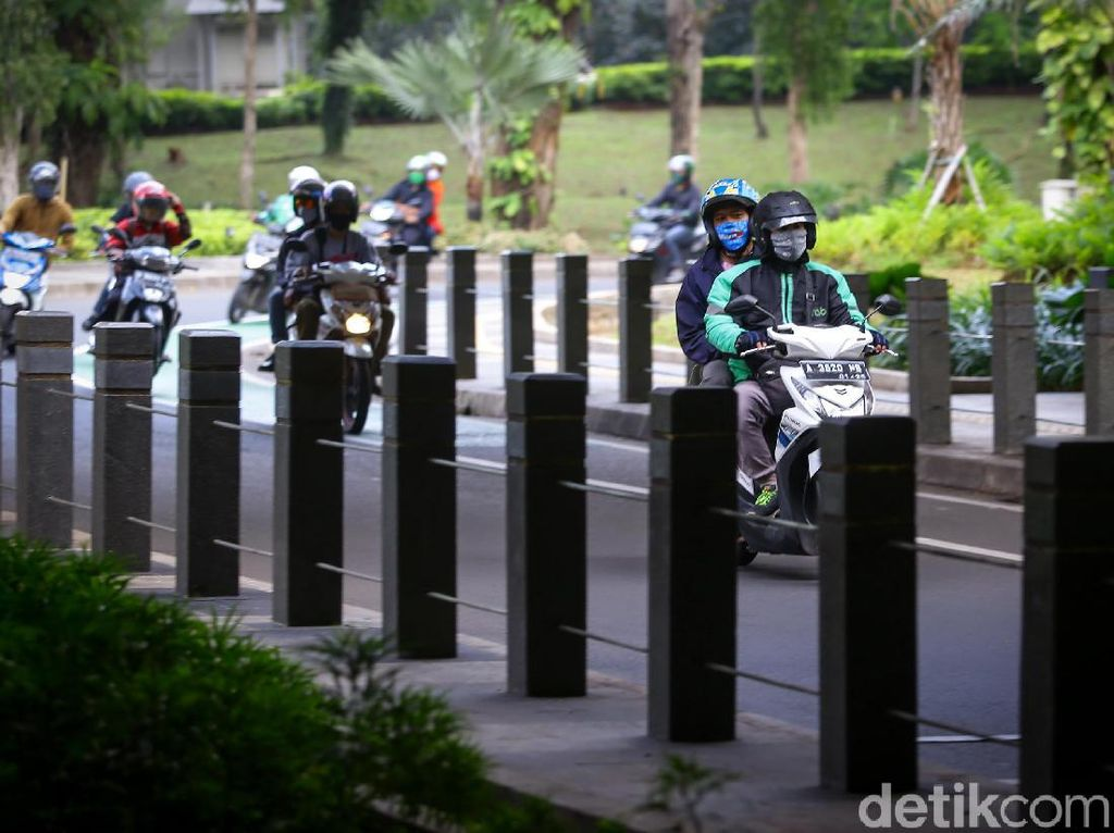 Segini Denda Ojol-Opang Jika Langgar PSBB Transisi di DKI Jakarta
