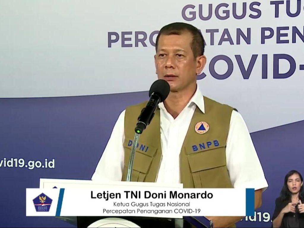 Doni Monardo: Kasus Aktif Corona di RI Turun, Angka Kesembuhan Terus Naik