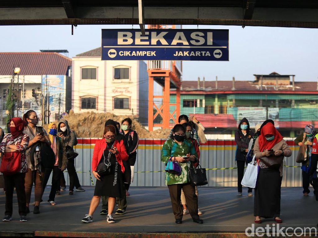 Jakarta PSBB Transisi Lagi, Stasiun Bekasi Normal