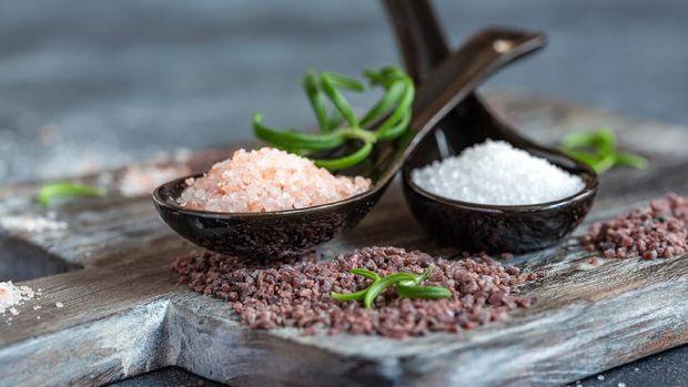 Fine grain pink salt from Himalayas