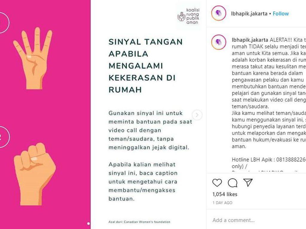 Viral Sinyal Tangan untuk Lapor Kekerasan, Ini Kata Komnas Perempuan