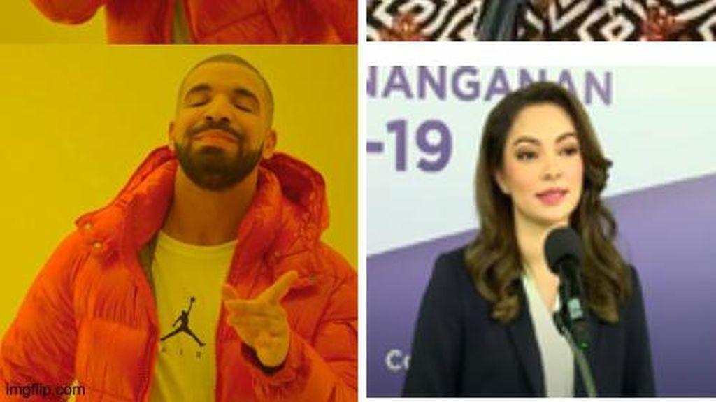 5 Meme Kocak New Normal dan Hebohnya dr Reisa Broto Asmoro Jadi Jubir