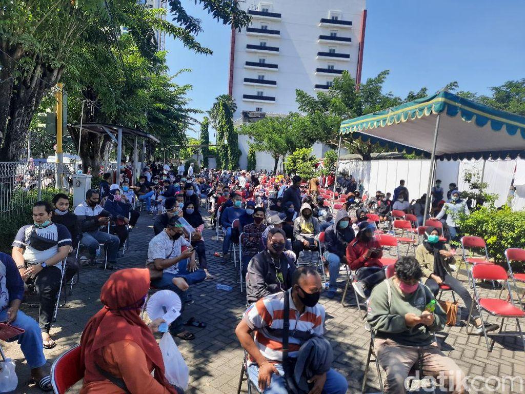 558 Orang Rapid Test di Depan Plaza Marina, 47 Reaktif