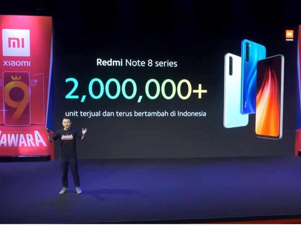 Xiaomi Klaim Seri Redmi Note 8 Terjual 2 Juta Unit di Indonesia