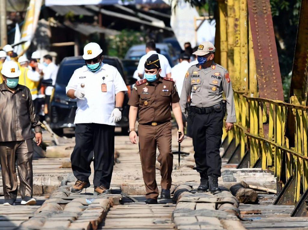 Akhirnya! Jembatan Cibuni Penghubung Sukabumi-Cianjur Mulai Diperbaiki