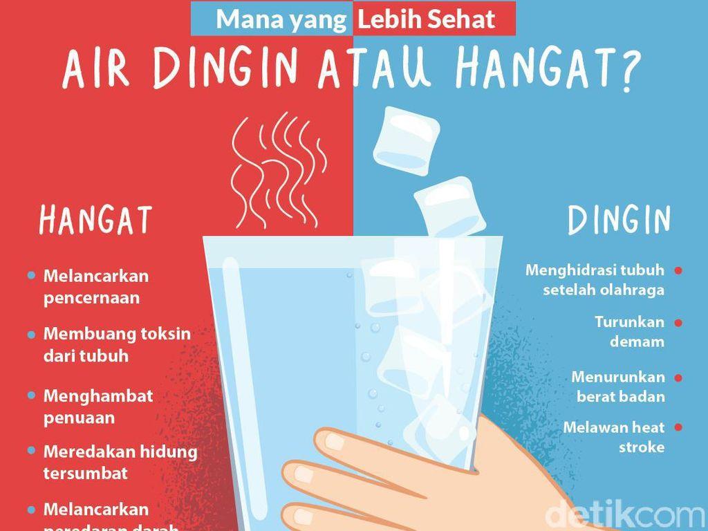 Lebih Sehat Mana, Minum Air Hangat atau Air Dingin?