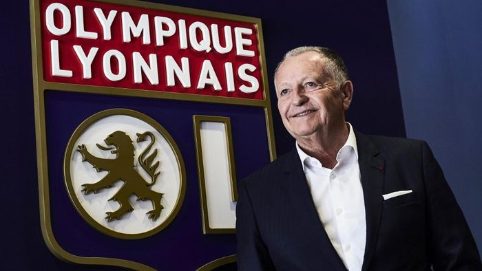 Lyon football club (OL ) president Jean-Michel Aulas poses on the occasion of the 30th anniversary of his presidency at the OL on June 29, 2017 at the Parc Olympique Lyonnais in Lyon, eastern France. (Photo by JEAN-PHILIPPE KSIAZEK / AFP)