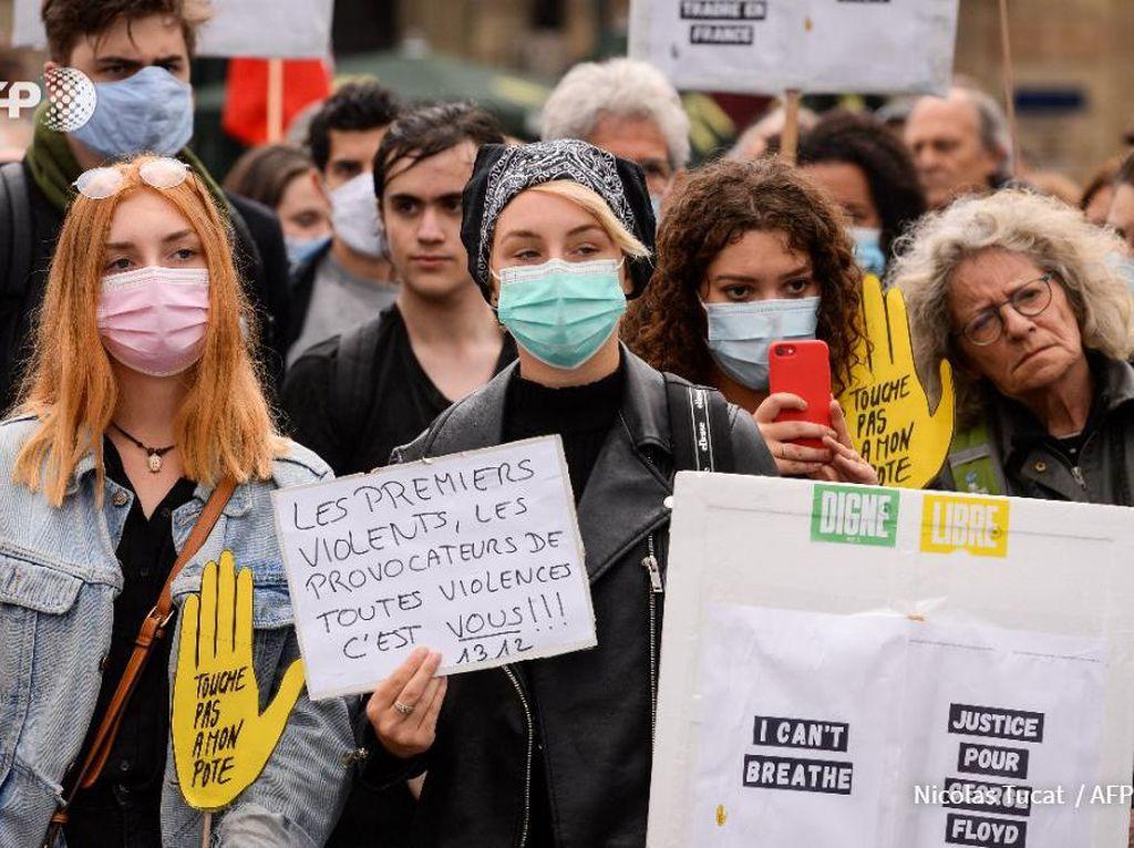 Ramai Penghormatan George Floyd, PM Prancis Pastikan Polisinya Tak Rasis