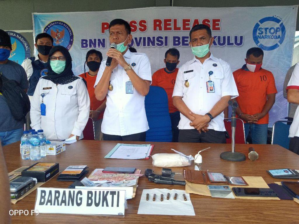BNN Tangkap 4 Kurir 500 Gram Sabu di Bengkulu