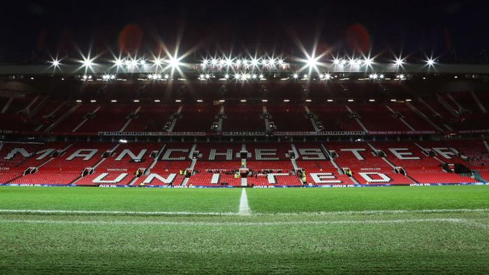 MANCHESTER, ENGLAND - FEBRUARY 28: A general view inside Old Trafford prior to the FA Youth Cup: Sixth Round match between Manchester United and Wigan Athletic at Old Trafford on February 28, 2020 in Manchester, England. (Photo by Charlotte Tattersall/Getty Images)