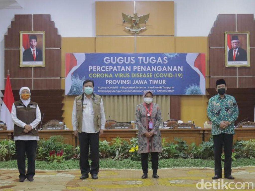 Ini Komitmen 3 Kepala Daerah di Surabaya Raya Menuju Transisi New Normal