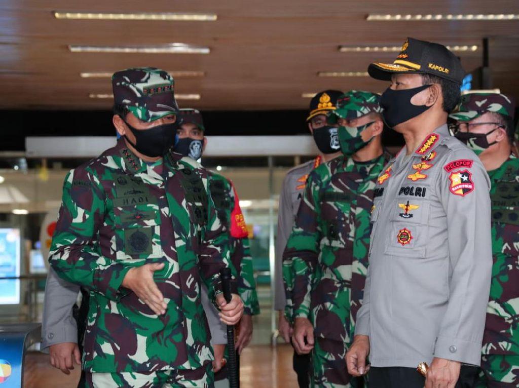 New Normal, Panglima TNI dan Kapolri Sidak Pasar Tanah Abang-Bandara
