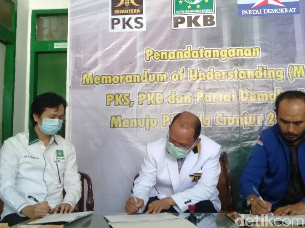 PKS, PKB dan Demokrat Berkoalisi di Pilkada Cianjur 2020