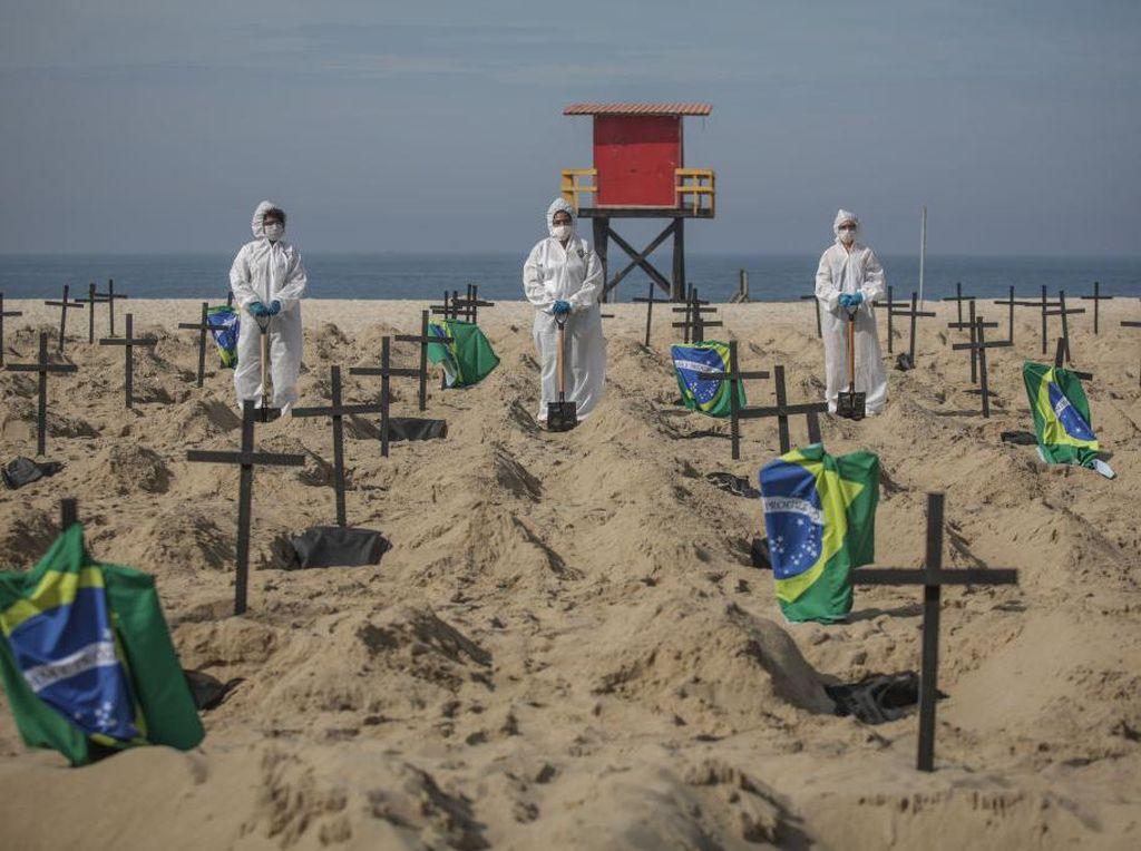 Blunder Longgarkan Lockdown, Brasil Miliki 1,1 Juta Kasus Corona