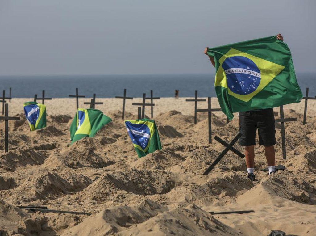 Brasil Catat Rekor! 40 Ribu Kasus Covid-19 Dalam Sehari