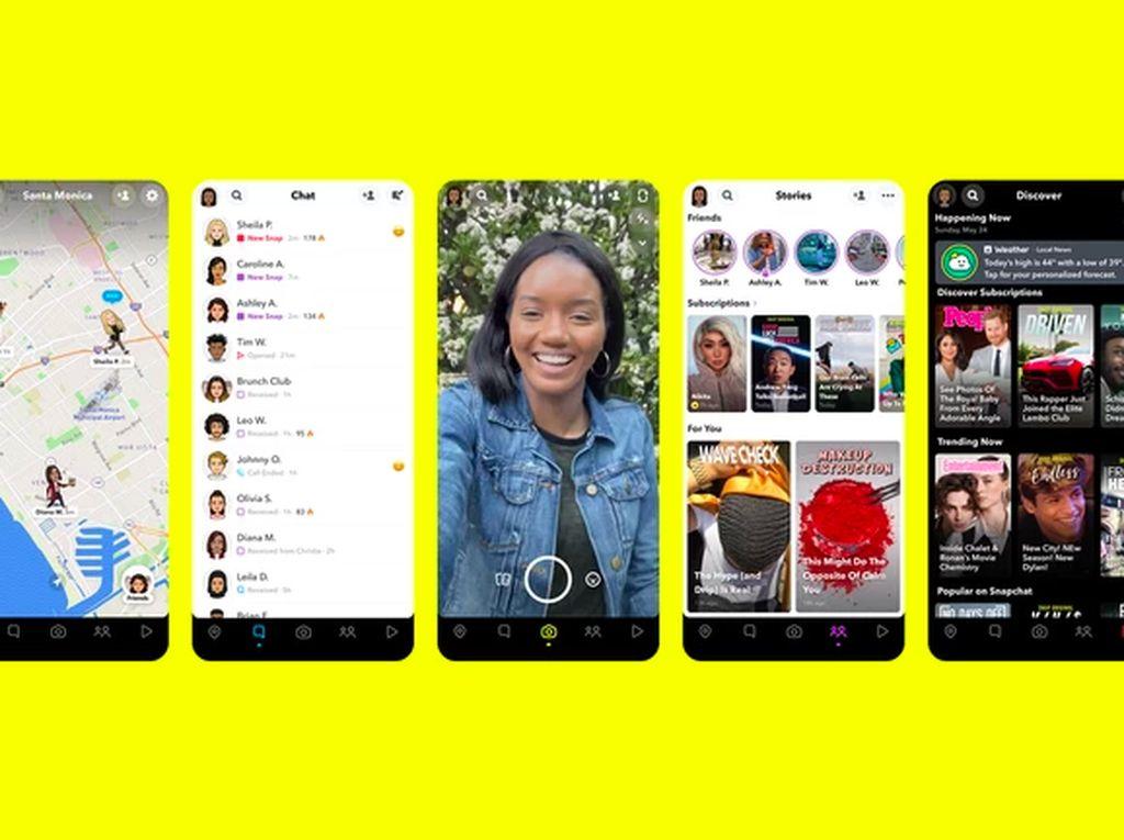 Dipermak, Snapchat Bertabur Fitur Baru