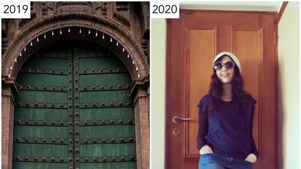Pandemi Corona, Wanita ini Potret Ulang Travelingnya di Instagram