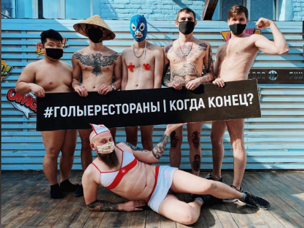 Tuntut Restoran Bisa Buka, Chef di Rusia Ramai-ramai Unggah Foto Bugil