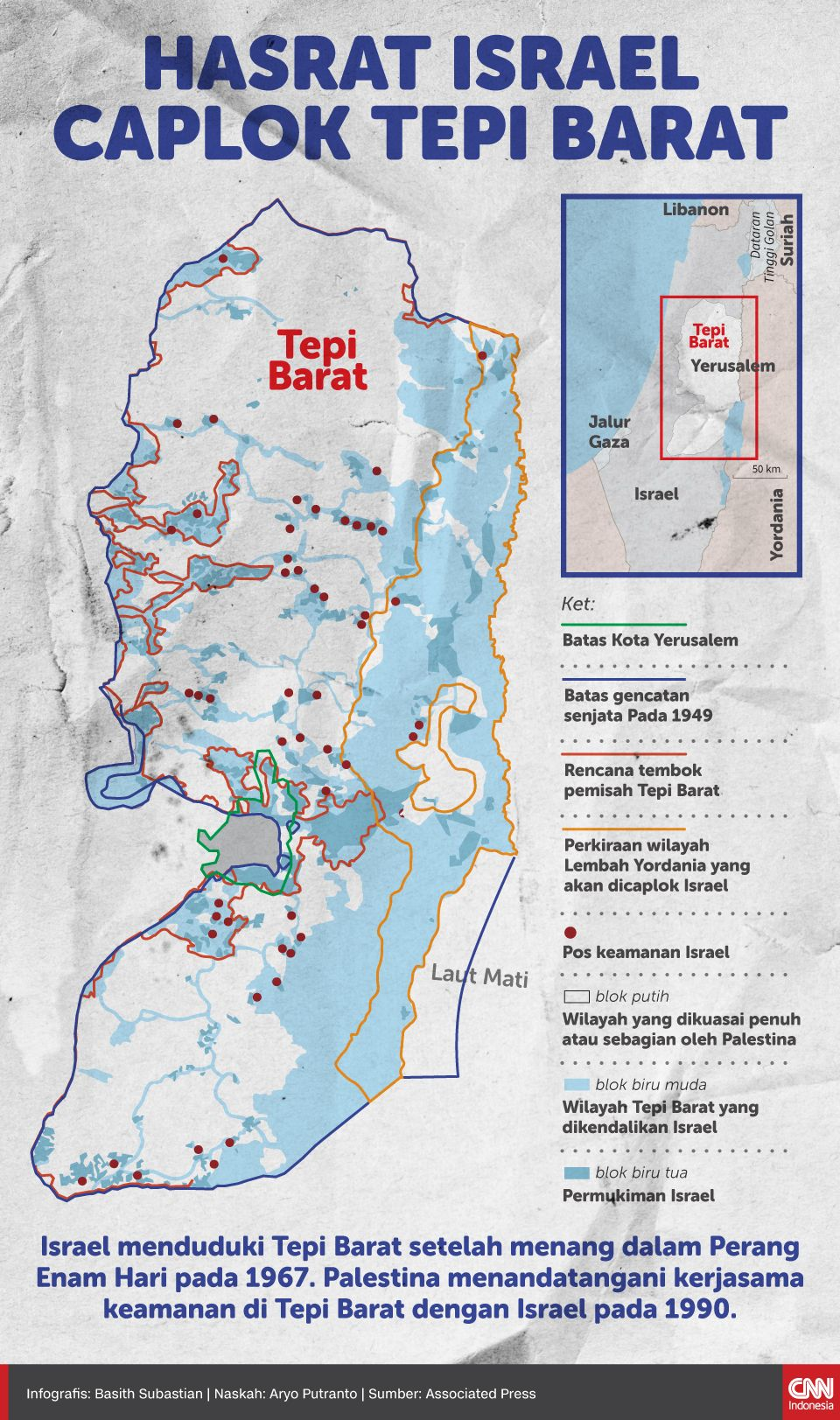 Infografis Hasrat Israel Caplok Tepi Barat
