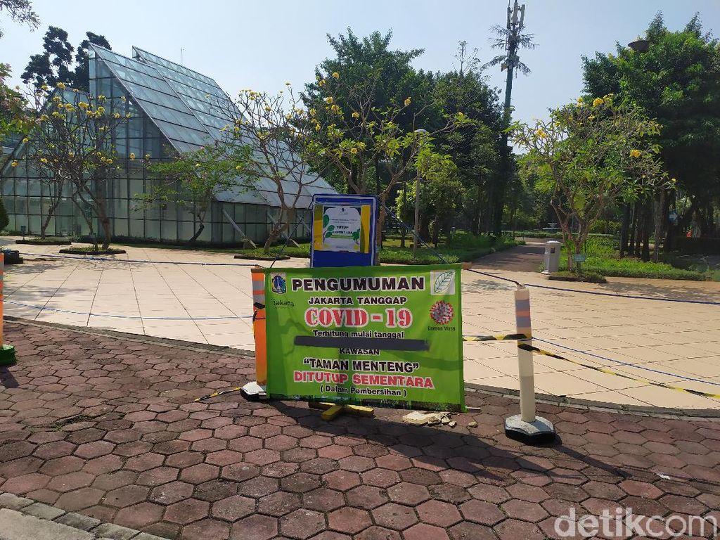 PSBB Transisi, Taman Menteng Jakpus Masih Ditutup