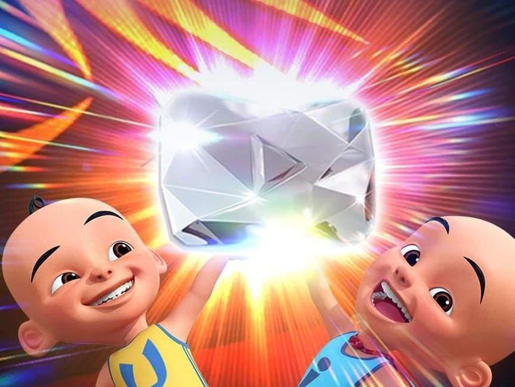 Pertama di Malaysia, YouTube Upin & Ipin Raih Diamond Play Button