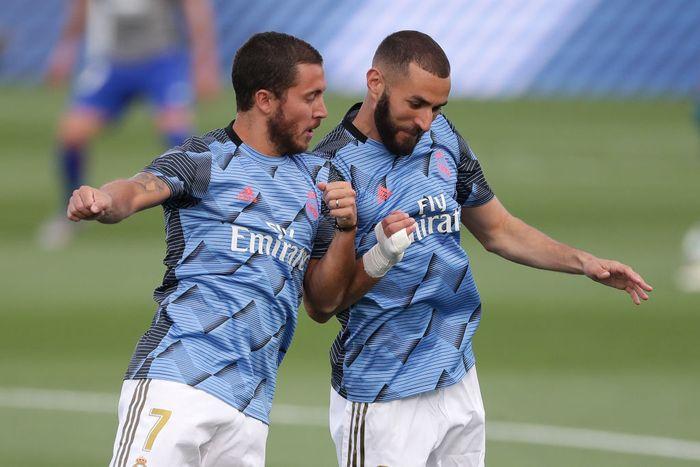 Eden Hazard dan Karim Benzema