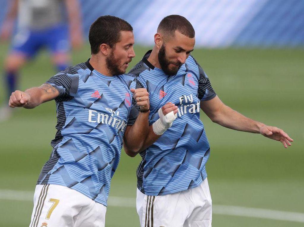 Masih Punya Benzema dan Hazard, Madrid Tak Perlu Belanja