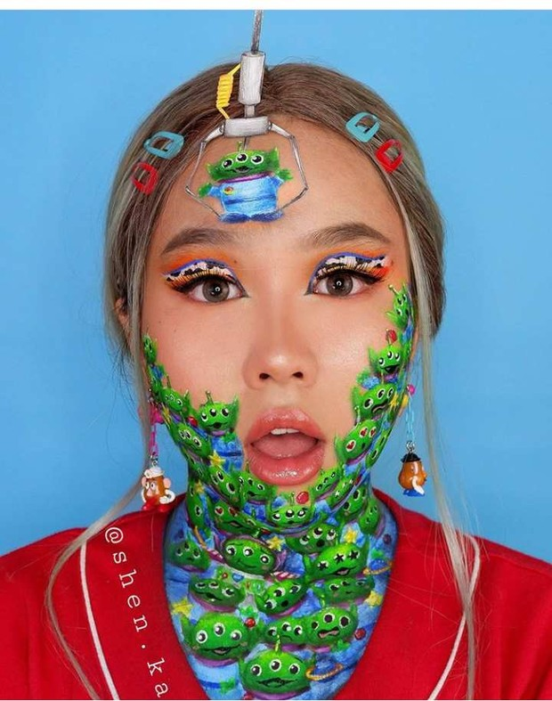 Shenika, beauty vlogger yang sering membagikan tutorial art make