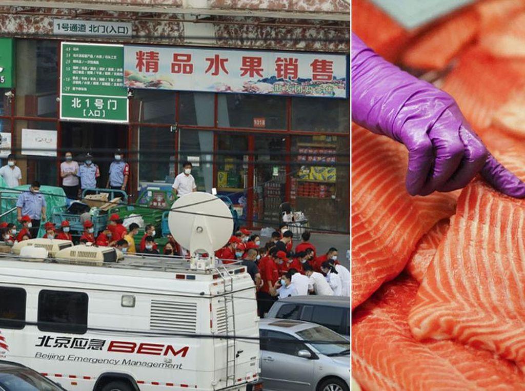 Temukan Virus Corona di Talenan, Pasar di Beijing Berhenti Jual Salmon