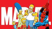 The Simpsons Kemah Bareng Spider-Man