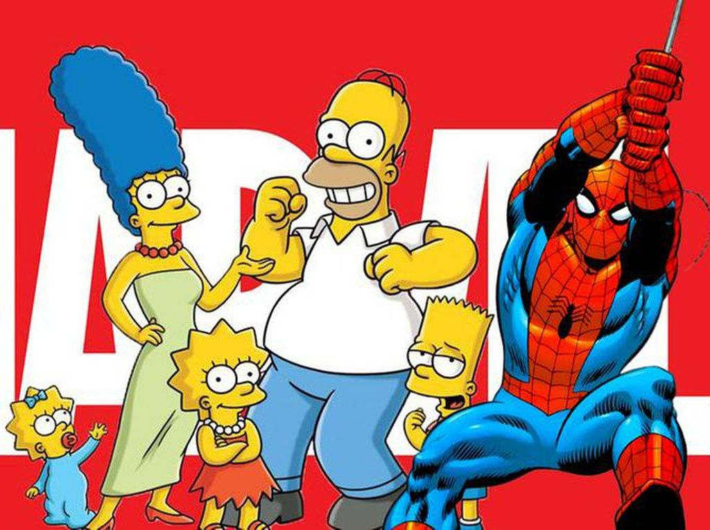 The Simpsons Kemah Bareng Spider-Man