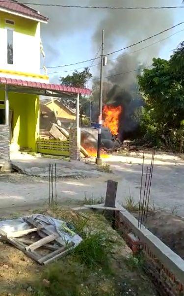 Pesawat TNI AU Hawk 200 Jatuh di Kampar Riau