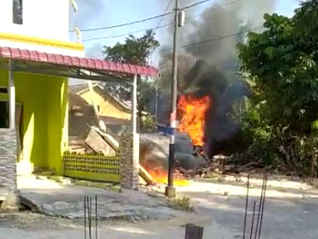 Saksi Mata Jatuhnya Pesawat TNI AU: Ada 2 Kali Ledakan