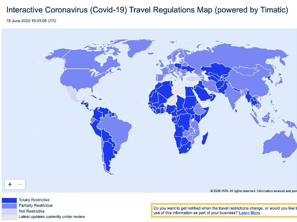 Peta Canggih Ini Perlihatkan Pembatasan Tiap Negara
