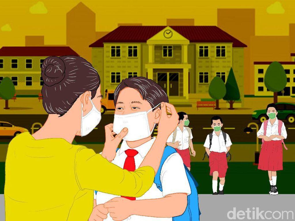 Sekolah di Zona Kuning Boleh Buka: Olahraga Dilarang-Kapasitas Kelas 50%