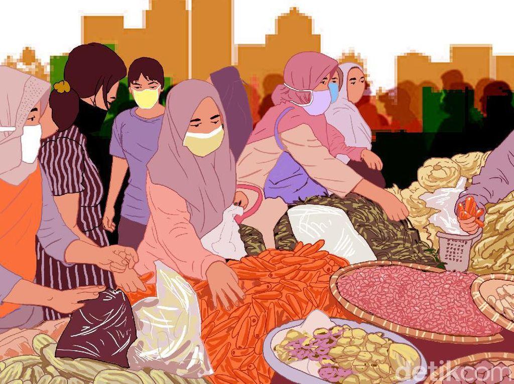 4 Pedagang Positif Corona, Pasar Gembrong Jakpus Akan Ditutup 3 Hari