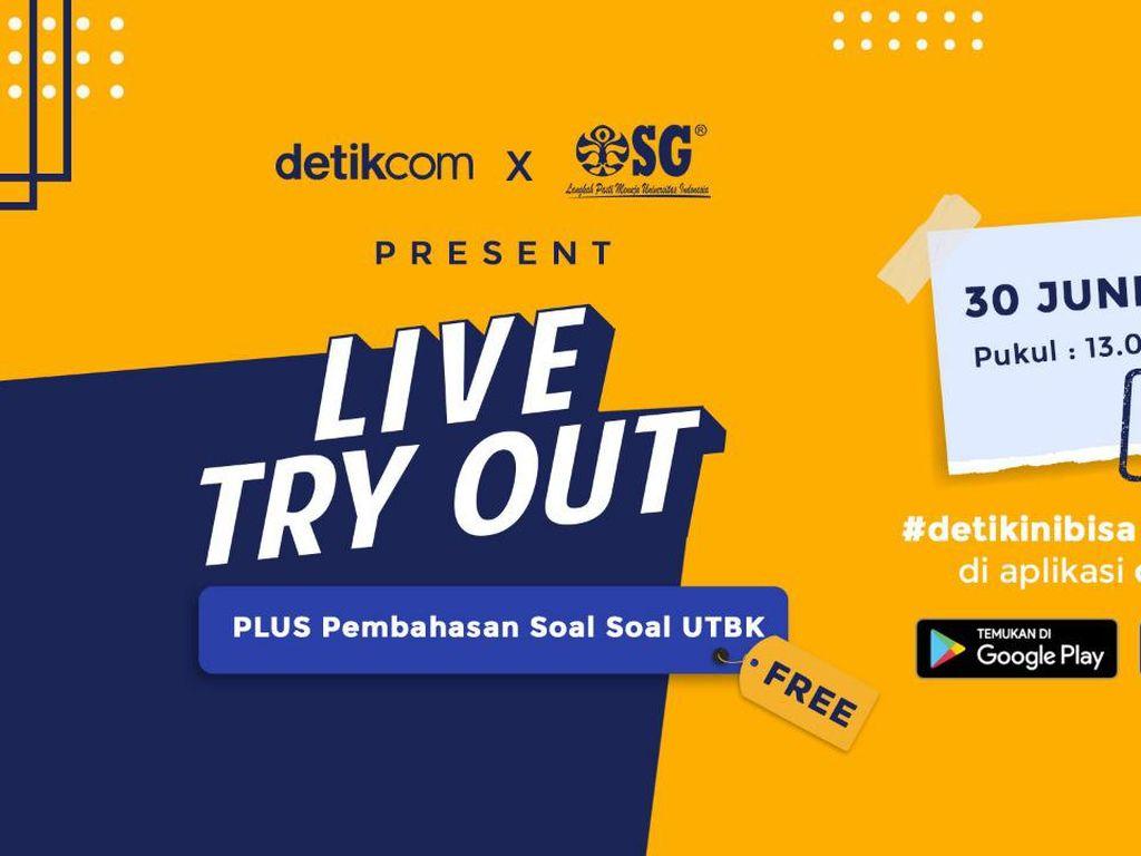 Ikut Live Try Out Online detikcom, Yuk!
