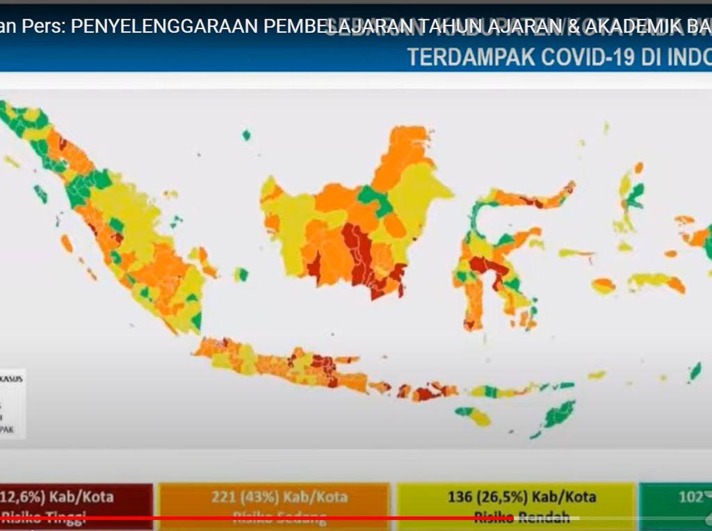 Daftar 10 Wilayah Zona Merah Corona di Indonesia