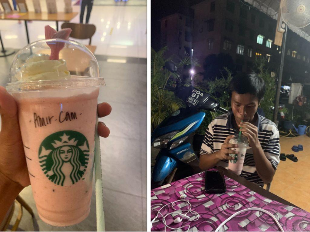 Pria Ini Traktir Temannya yang Belum Pernah Cicip Kopi Starbucks Seumur Hidup