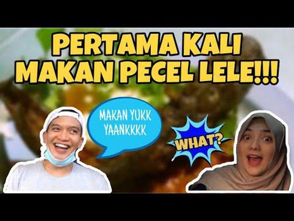 Citra Kirana Makan Pecel Lele Pertama Kali, Begini Reaksinya!