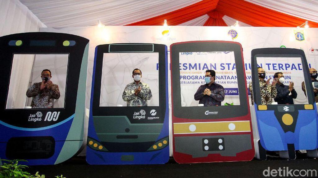 Erick Thohir hingga Budi Karya Resmikan Stasiun Terpadu di Jakarta