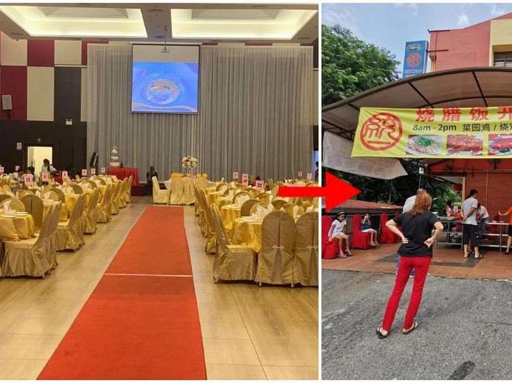 Gedung Pesta Diubah Jadi Gerai Chicken Rice Demi Gaji Pegawai