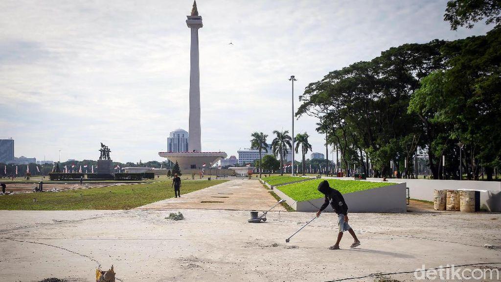 Potret Terkini Plaza Selatan Monas yang Kontroversial