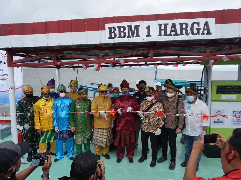 BPH Migas Resmikan SPBU Terapung 1 Harga buat Nelayan Pesisir Kalbar