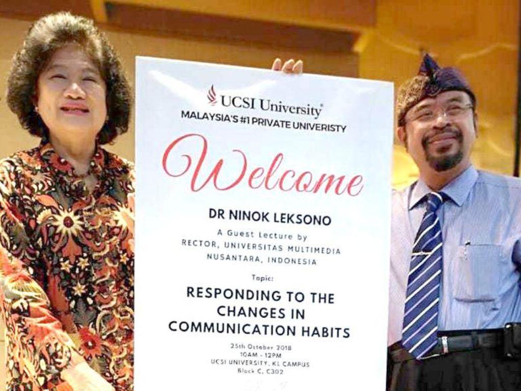 Rektor UMN Diangkat Jadi Guru Besar Tamu di UCSI Malaysia