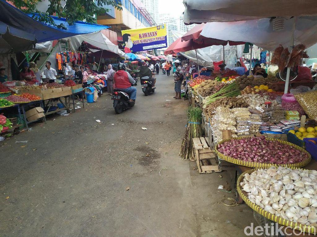 Ditutup Usai Pedagang Positif Corona, Begini Kondisi Pasar Kebayoran Lama