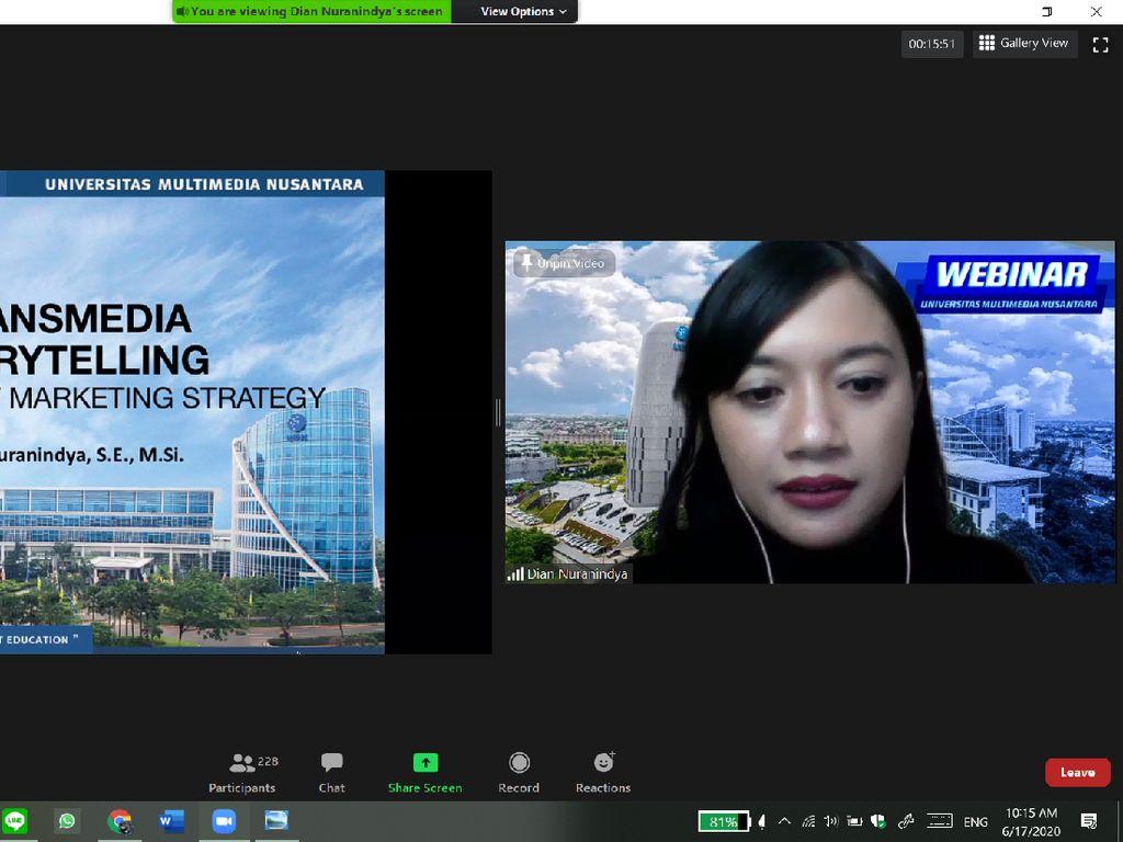 Webinar UMN: Strategi Transmedia Storytelling dalam Pemasaran