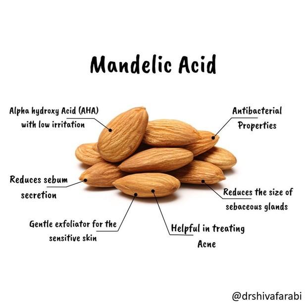 Mandelic Acid dari buah almond yang kaya manfaat