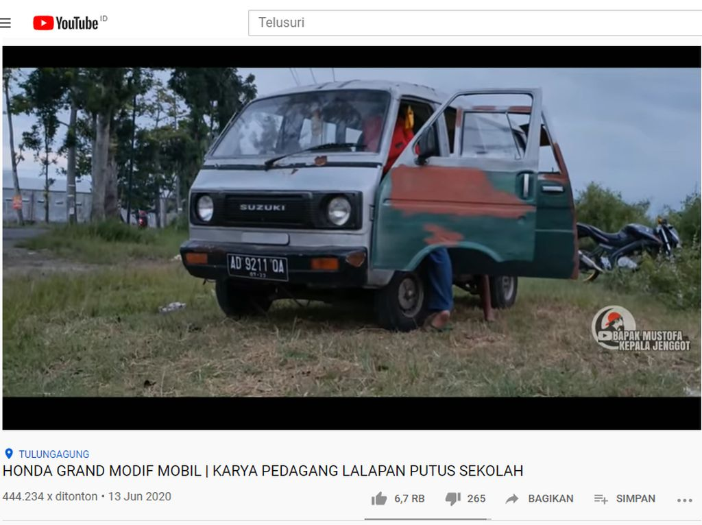 Modifikasi Suzuki ST Dicangkok Mesin Honda Legenda